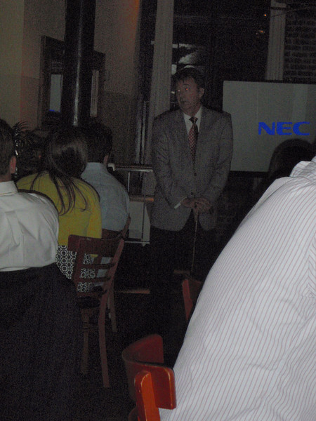 Steve (Keegan's dad) giving a speech about the wonderful couple!