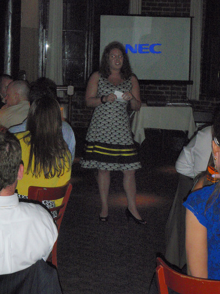 Lauren (matron of honor) giving speech