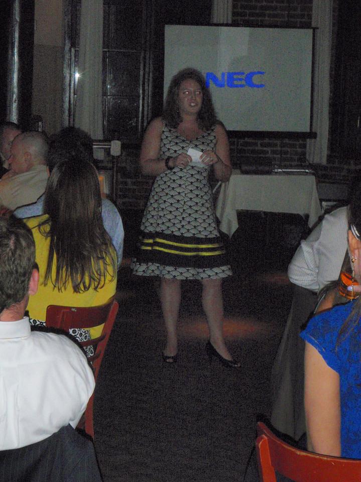 Lauren (matron of honor) giving speech