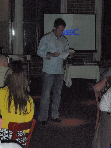 Ryan (Keegan's brother) giving speech