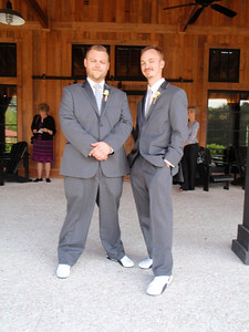 Ushers = Bart and Zach (in matching sneakers also worn by Keegan and the groomsmen)