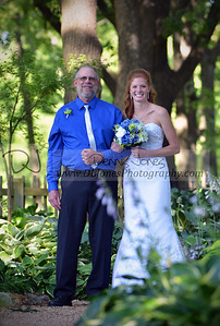 Katie and her dad preparing for the walk down the aisle.  This was a beautiful wedding at the Hosta Garden in Nathanael Green Close Memorial Park in Springfield, MO.