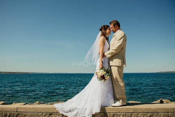 katie + eric | wedding | st partrick catholic church, frog pond village, traverse city