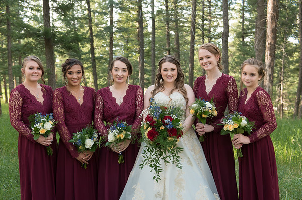 Bridesmaids Group Photos at Christies of Genesee Wedding