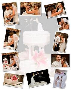 cake cutting Collage 11x14