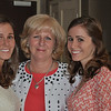 Three of my favorite ladies:  Kelly, Linda + Megan as we get ready for rehearsal dinner.  Amy was home with Wesley
