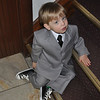Little Man waits for his cue...love the shoes