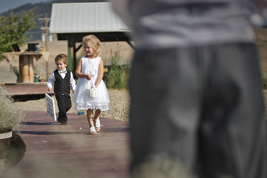The Procession with flowergirl and Ring lad