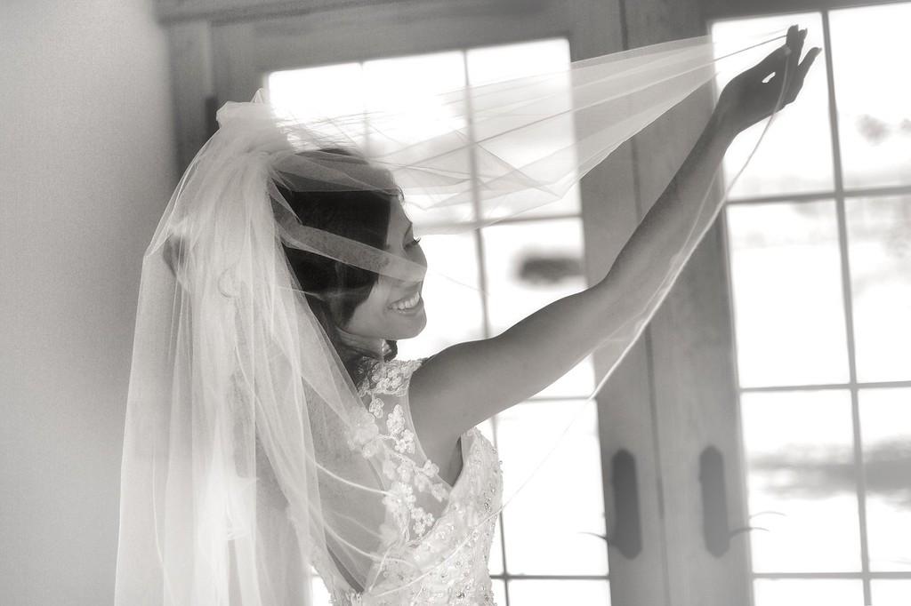 Veil in the window
