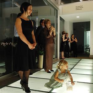 Guests enjoying the dancers.