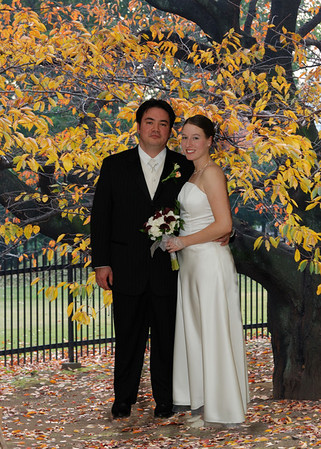 This one was just for fun.  The autum colors were at their peak in Pittsburgh during the wedding, but we didn't get outdoors for pictures. This one was done in photoshop.