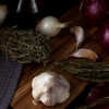 Onion and garlic. Seasonal, organic and healthy food concept. Traditional culinary