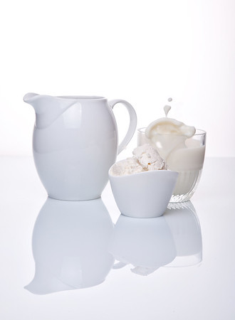 White porcelain on white background