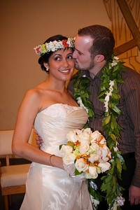 Kim and Billy Honolulu Hawaii Wedding Bride & Groom