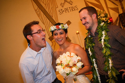 Kim and Billy Honolulu Hawaii Wedding Formals