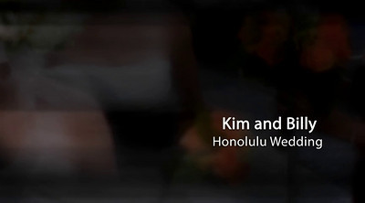 Kim and Billy Honolulu Wedding Photo Show