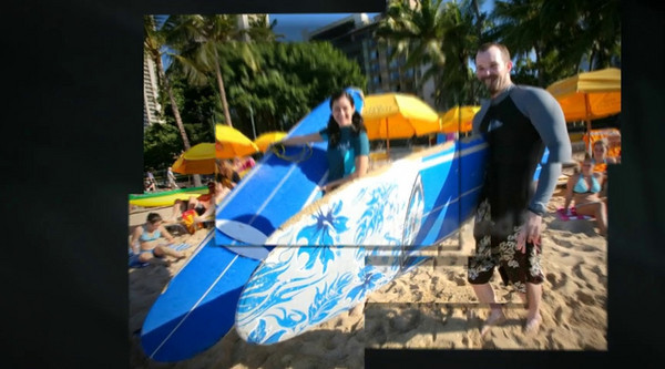 Kim Billy Waikiki Surfing Couple Shoot Photo Show   Click Arrow To Play