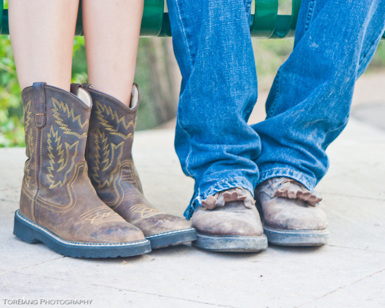 Kim and Ty's Engagements taken in Cedar Canyon. © TorBang Photography