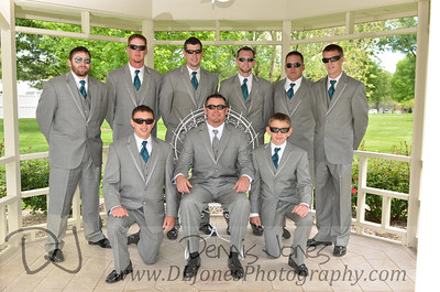 Glenn and groomsmen.  They were all wearing shades anyway