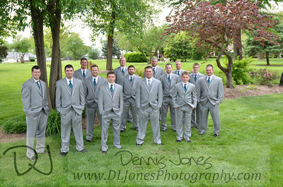 Glenn with the groomsmen and ushers