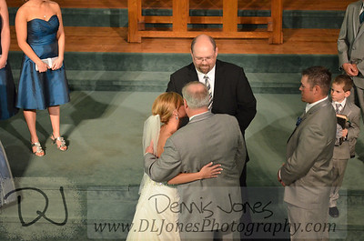 Dad  letting go.   During the wedding I shot from a balcony at the back of the church while Jordan worked closer in.