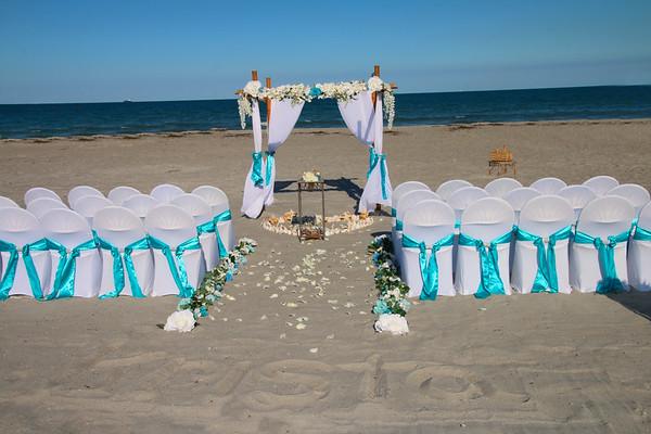 krista and rick's cocoa beach wedding.