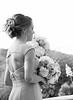 Bridesmaid during ceremony B&W 1871