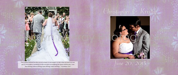 Christopher and Kristin wedding album final 001 (Cover 1)