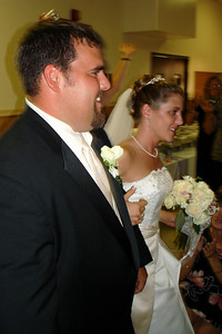 Kristin and Mike make their way in - Quakertown, PA ... August 4, 2007 ... Photo by Rob Page III