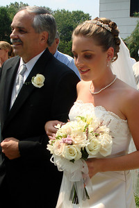 Randy and Kristin walk down the aisle - Perkasie, PA  ... August 4, 2007 ... Photo by Rob Page III