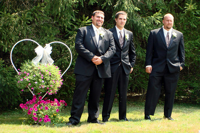 The guys wait for Kristin to walk down the aisle  - Perkasie, PA  ... August 4, 2007 ... Photo by Rob Page III