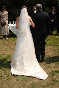 Walking Kristin to the alter - Perkasie, PA  ... August 4, 2007 ... Photo by Rob Page III