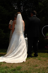 Kristin and Mike at the alter - Perkasie, PA  ... August 4, 2007 ... Photo by Rob Page III
