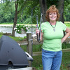 Linda Graf on grill duty