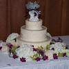 Wedding cake, including the topper from Holly's grandparents' wedding cake- 50 years ago.