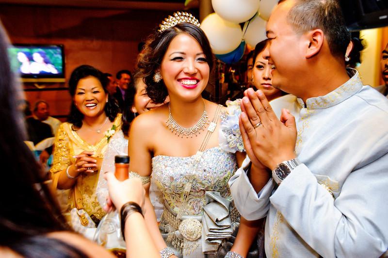 Traditional Khmer wedding attire