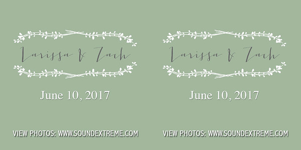 Larissa & Zach June 10, 2017