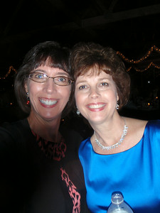 Jenny and Patricia having a fun time at the reception!