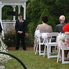 Ian's looks at his mother and grandfather as the ceremony starts.