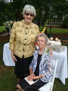 Mom and good friend Mary Lee after the ceremony.