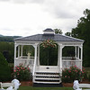 Ceremony gazebo overlooking the NC mountains.