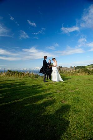 Lee and Doug's Wedding, Dunure Castle, Scotland