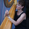 Harp player during the post-wedding cocktail reception.