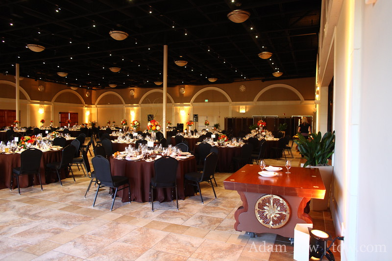 Inside the dinner reception area.