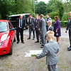 Wedding group trying to figure out how to move Vicar's car out of the way... ;-)