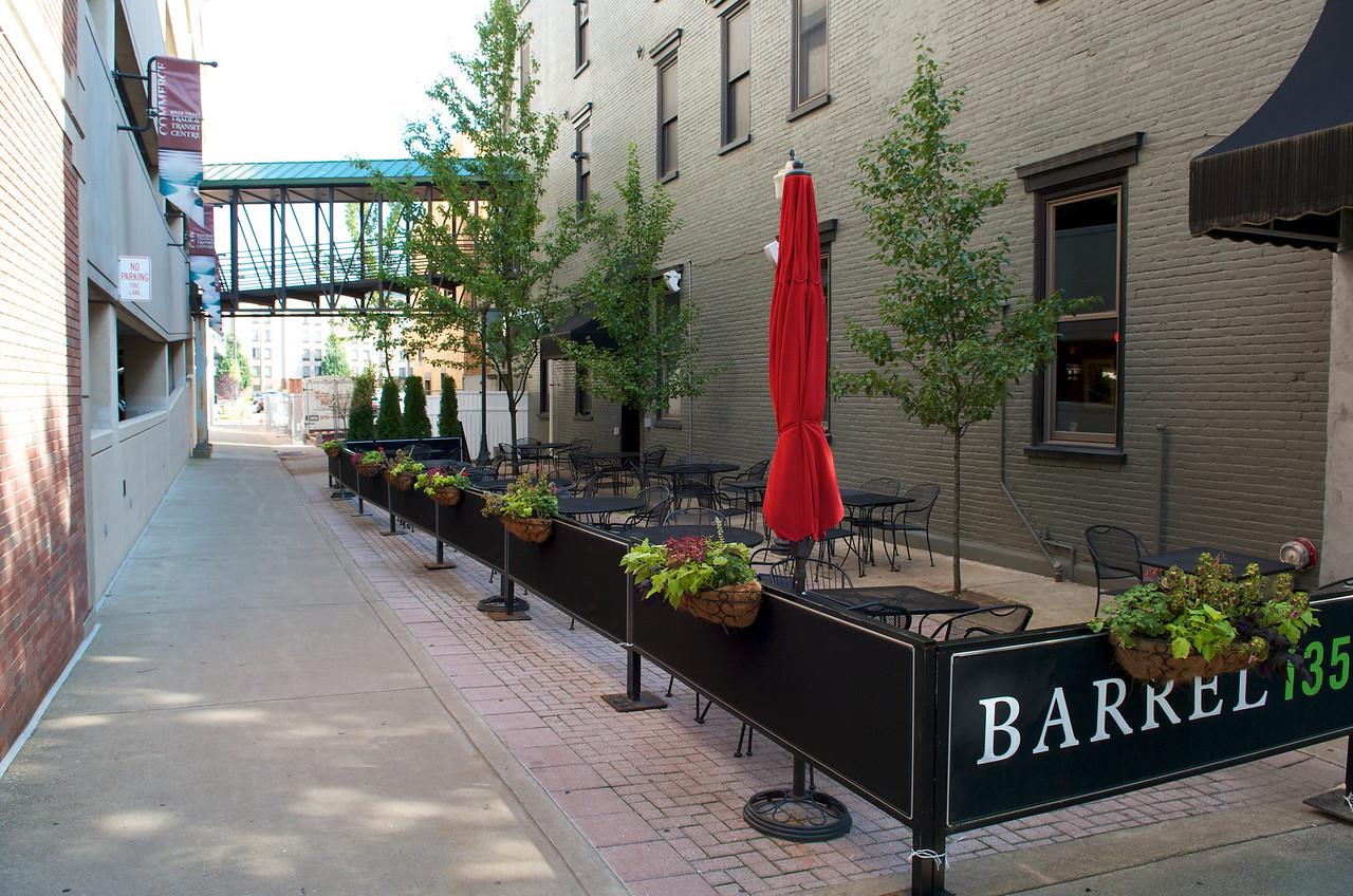 Barrel 135 courtyard at 135 3rd Street.