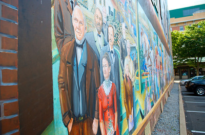 Mural on the wall of the Bullfrog.