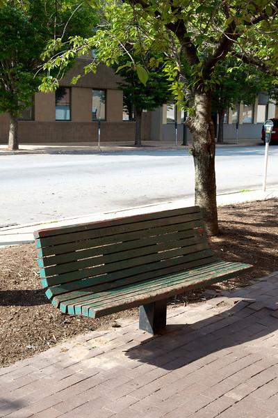 Bench on 3rd Street.