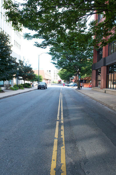 Looking south on Pine Street from 3rd street.