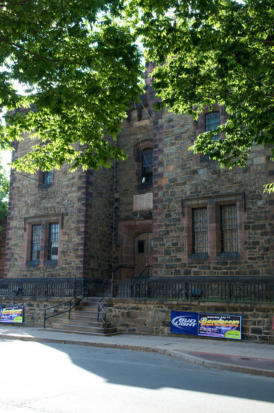 The Cellblock building. It was originally a jailhouse but now it's a club. Cool stonework. Corner of 3rd and Williams Street.